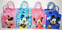 12 MICKEY MINNIE MOUSE CANDY GOODY TREAT BAGS FAVORS PARTY SUPPLIES DECORATION