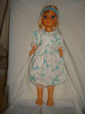 """Blue embroidery Anglais dress,  Fit Nancy or other slim 14"""" Dolls"""