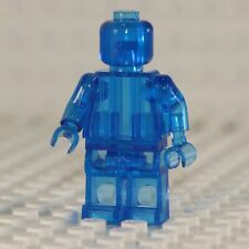 NEW Blank Transparent Blue Minifigure Compatible with Lego