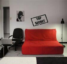 Tpo Secret Sign Logo Spy Decor Wall Art Sticker Decal d836