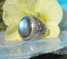 RX Ring Regenbogen Mondstein Stein des Juni Türkischer Stil Sterling Silber 925