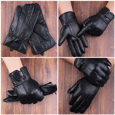 1 Paire Homme gants Hiver Doigt Complet Protection Sport Moto Epais Cuir Peluche