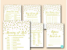 Print Yourself - Pink and Gold Bridal Shower Game pack Printable BS488