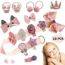 18pcs Toddler Girl Hair Accessories for Girls Infant Hair Clips Baby Elastic
