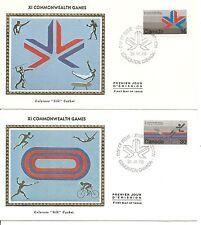 Canada Sc# 757-758 Xi Commonwealth Games .Colorano Silk Cachet.