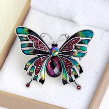 Hot Large Butterfly Bridal Brooch Rhinestone Crystal Diamante Wedding Pin AL081
