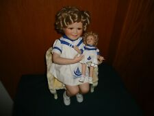 "Danbury Mint Shirley Temple Porcelain Doll ""Sailor Girls"" with Chair"