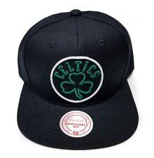 Boston Celtics Mitchell & Ness Neon Lights Black Green HWC Snapback Hat Cap NBA