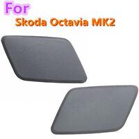 2pcs Headlamp Headlight Washer Nozzle Jet Cover Cap For Skoda Octavia MK2 N/S/F