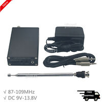 1mW PLL Stereo FM MP3 Transmitter Mini Radio Station 87-109MHz w/ Power Antenna
