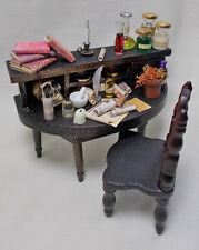 Dollhouse Miniature Filled Table APOTHECARY/  POISONER'S PARADISE