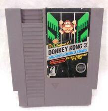 NES Donkey Kong 3 Game 3 Screw Cartridge Only Vintage Nintendo 1986