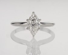 1.04 ct Marquise Cut Diamond Ring Color F/SI1 14K Gold 100% Natural marriage