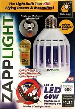 ZappLight 2 N 1 LED Lightbulb & Bug Light Zapper 60W Zap Mosquitoes Flies Wasp M