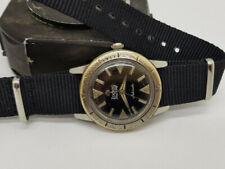 VINTAGE 1960'S ZODIAC SEAWOLF DIVER BLACK DIAL AUTO MAN'S WATCH