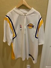 Los Angeles Lakers Warmup Jacket XL Nike 1/4 Zip Mens