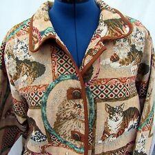 Cat Calico Kitten Tapestry Jacket Size 2XL Blair Coat Tapestry Blazer 2 Pocket