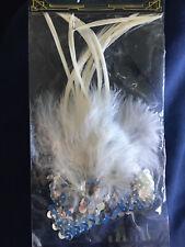Headpiece Feather Flapper Headband Great Gatsby Headdress Vintage Prom UK