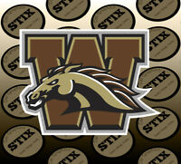 Western Michigan Broncos Logo NCAA Vinyl Die Cut Sticker Car Window Bumper Decal