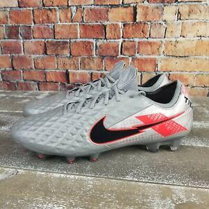 Nike Tiempo Legend 8 Elite FG F ACC Flyknit Silver Red CW0518-906 Men's 10