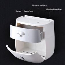 Salle de bain toilette tissu cuisine papier distributeur rangement mural boîte