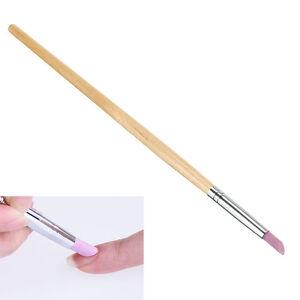 Nail Art Cuticle Pusher Dead Skin Removal Scrubs Rod Manicure Stick Pen Tool