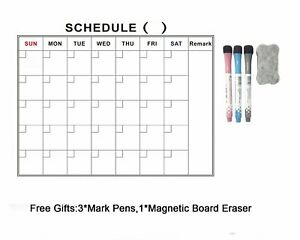 Villexun Dry Erase Calendar, Magnetic Whiteboard For Refrigerator, Complete Set