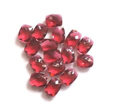 Hot Pink Hydro Quartz Faceted Cushion Briolette Beads 13x17 mm 3 Matched Pair