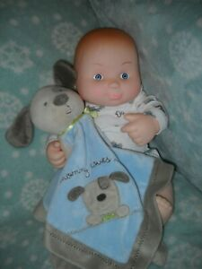 """VINTAGE UNEEDA 14"""" CHUBBY BABY BOY DOLL 1984 MADE IN HONG KONG, VINYL, ADORABLE"""