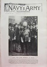 1902 PRINT ~ LORD & LADY ROBERTS AT BATH COMMANDER-IN-CHIEFS CEREMONY VISIT