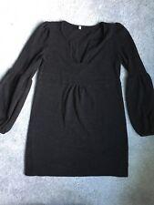 Pink Blush Maternity Size Small Black Bell Sleeve Tunic Sweater