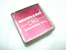 Vintage Mueller Water Products Pocket Tape Measure Advertising Decatur Illinois