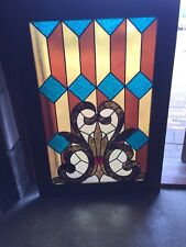 Sg 764 Antiques Stainglass Window 29 In An 8Th Inch Wide 41 1/2 High