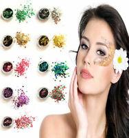 Chunky Mixed Glitter Pot-Nail Face Eye Body Tattoo Festival Dance Club Cosmetic
