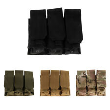 MOLLE PALS Nylon Open Top Triple Mag Compact Magazine Pouch Holster Bag New