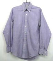 Brooks Brothers 346 Men's Small Long Sleeve Button Down Purple Slim Fit Shirt