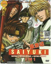 DVD Saiyuki + Saiyuki Reload + Saiyuki Gunlock 3 in 1 English Dubbed