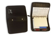 PU LEATHER ZIPPED RING BINDER SUITABLE FOR MULBERRY AGENDA MODIFIED SIZE BLK 998