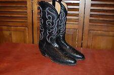 Nocona 1200131403 Men's Black Belly Cut Python Western BOOTS Size 10.5ee