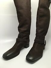 100% AUTHENTIC PRADA CALZATURE LEATHER BOOTS - BROWN - CAPRA ANTIC 2