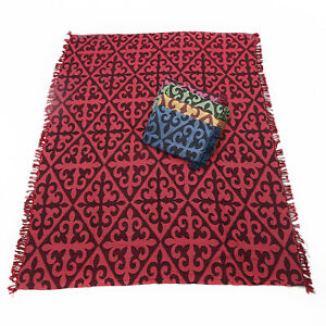 1pce Red Chevron Design Throw Rug / Table Cloth / Picnic / Camping Blanket 180x