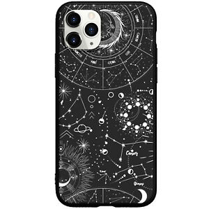 Space Constellation Black Phone Case For iphone 11 12 13 Pro Max XR 7 8 Plus