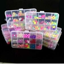 Girls Kids Childrens DIY Craft Make Own Beads Jewellery Gift Set Box Kit Oblong