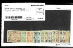 Nauru Scott #'s 17a-30a, SG #'s 26b-39b. Glazed Surfaced White Paper