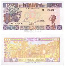 Guinea 100 Francs 2012  P-35b  Banknotes  UNC