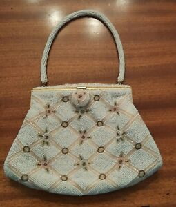Exceptional VTG Made in Japan Beaded Bag-Incredible 3 Color Design & Clasp