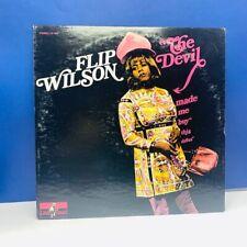 Record vinyl 33 Rpm album cover sleeve vtg Lp Flip Wilson Devil made me dress