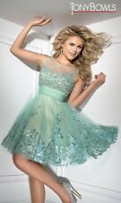 Tony Bowls Prom Dress Party  Evening  Short Sexy Color  Green Size 4