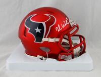 Deshaun Watson Autographed Houston Texans Blaze Mini Helmet- JSA W Auth *White
