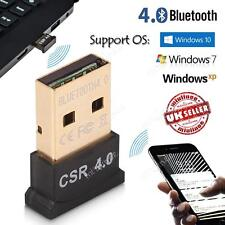 USB Bluetooth V4.0 Adaptador Dongle para PC Windows 10 8 7 XP Altavoces móviles